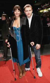Jessica Schwarz and Max Riemelt at the premiere of