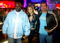 Funkmaster Flex, Carmen Electra and Joe Rogan at the Spike TV Presents Auto Rox: The Automotive Award Show.