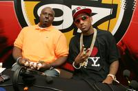 Funkmaster Flex and rapper Fabulous at the Hot 97 Summer Jam.