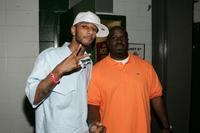 Swizz Beatz and Funkmaster Flex at the Hot 97 Summer Jam.