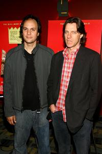 Milo Addica and Director James Marsh at the premiere of