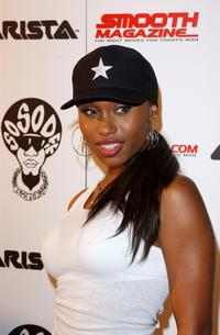 Angell Conwell at the Smooth Pre-BET party.