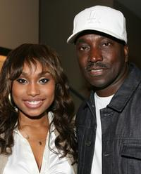 Angell Conwell and Clifton Powell at the screening of
