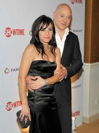 Pamela Adlon and Evan Handler at the 66th Annual Golden Globe Awards.
