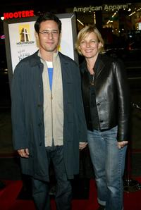 Rob Morrow and his wife Debbon Ayer at the premiere of