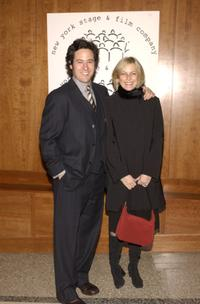 Rob Morrow and his wife Debbon Ayer at the New York Stage and Film Benefit Gala.