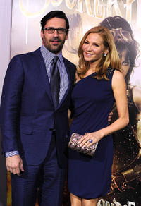 Jon Hamm and Jennifer Westfeldt at the premiere of