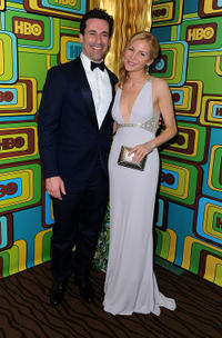 Jon Hamm and Jennifer Westfeldt at the HBO's Post 2011 Golden Globe Awards party.