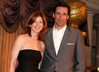Dana Delany and Jon Hamm at the Hollywood Foreign Press Associations annual summer luncheon.