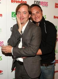 Chris Wylde and David Anders at the red carpet of
