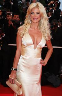 Victoria Silvstedt at the Palais des Festivals during the 61st International Cannes Film Festival.