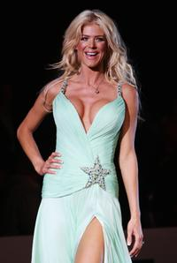 Victoria Silvstedt at the Amber Fashion Show and Auction.