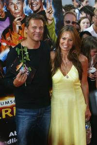Christian Tramitz and Anette Goebel at the premiere of