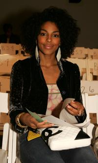 Marsha Thomason at the Kevan Hall Fall 2005 show.