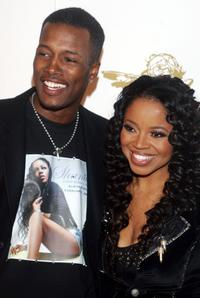 Flex Alexander and Shanice Wilson at the G.O.O.D Music