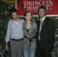 Chris Pine, Anne Hathaway and Callum Blue at the premiere of