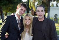Callum Blue, Mandy Patinkin and Ellen Muth at the Showtime TCA (Television Critics Association) Press Tour.