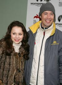 Sasha Cohen and Tom Cavanagh at the Weatherproof