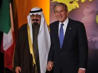 King Abdullah bin Abd al-Aziz Al Saud and George W. Bush at the Summit on Financial Markets and the World Economy.