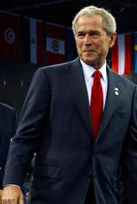 President George W. Bush at the Beijing 2008 Olympic Games.