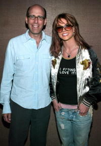 Showtime Chairman and CEO Matt Blank and Britney Spears at the American Airlines Arena in Miami, Florida.