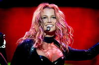 Britney Spears performs in Rotterdam, 07 May 2004 during her sole concert in the Netherlands.