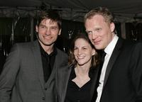 Nikolaj Coster-Waldau, producer Dana Goldberg and Paul Bettany at the after party of the premiere of