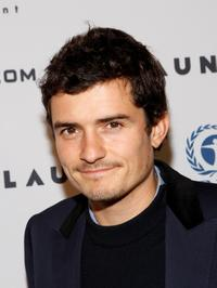 Orlando Bloom at the gallery opening for