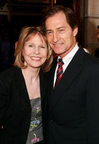 Donna Hanover and Edwin Oster at the opening night of