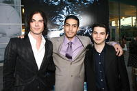 Ian Somerhalder, Rick Gonzalez and Samm Levine at the premiere of