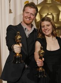 Glen Hansard and Marketa Irglova at the 80th Annual Academy Awards.