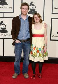 Glen Hansard and Marketa Irglova at the 50th Annual Grammy awards.