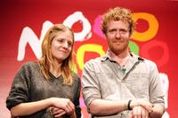 Marketa Irglova and Glen Hansard at the premiere of