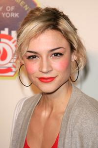 Samaire Armstrong at the unveiling of the new convertible Mazda MX-5.
