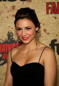 Samaire Armstrong at the fuse Fangoria Chainsaw Awards.