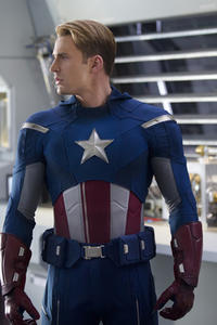 Chris Evans as Captain America in ``Marvel's the Avengers.''