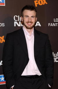 Chris Evans at the Madrid premiere of