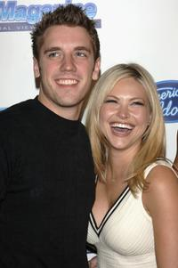 Bret Harrison and Amanda Loncar at the American Idol Semi-Finalists Party.