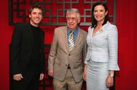 Bret Harrison, Philip Baker Hall and Mimi Rogers at the FOX Broadcasting Company Upfront.