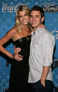 Sarah Mason and Bret Harrison at the American Idol Top 12 Party.