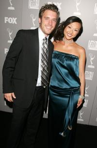 Bret Harrison and Joy Osmanski at the 20th Century Fox Television and FOX Broadcasting Company 2006 Emmy party.