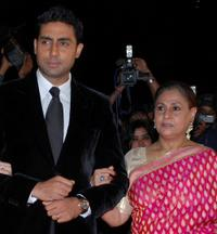 Abhishek Bachchan and Jaya Bachchan at the Awards ceremony in Mumbai.