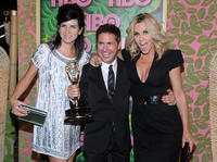 Paul Greenberg, Jenny McCarthy and Guest at the HBO's Annual Emmy Awards Post Award Reception.