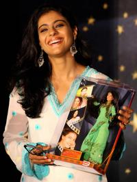 Kajol at the function to launch replica dolls of Bollywood stars.