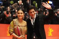 Kajol and Shah Rukh Khan at the Berlin premiere of