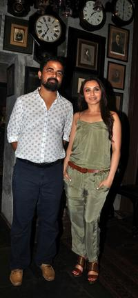 Sabyasachi and Rani Mukherjee at the inauguration of his shop in Mumbai.