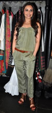 Rani Mukherjee at the inauguration of fashion designer Sabyasachi's shop in Mumbai.