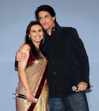 Rani Mukherjee and Shiamak Davar at the launch of