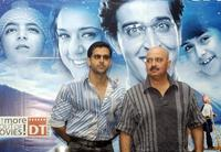 Hrithik Roshan and Director Rakesh Roshan at the press conference of