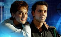 Preity Zinta and Hrithik Roshan at the announcement of
